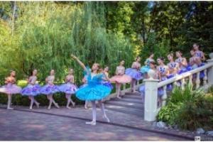 Балерины Харьковской хореографической школы в парке Горького